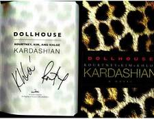 Kourtney and Khloe Kardashian signed Dollhouse 1st printing hardcover book