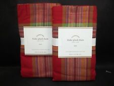 Pottery Barn Red Blake Plaid Sham Euro Set of 2 #187