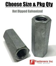Coupling Nuts Hot Dip Galvanized Rod Coupling Hex Long Nuts 14 20 Through 1 8