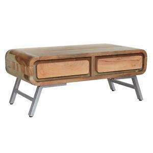 Winston Coffee Table 2 Drawer Storage Occasional Contemporary Solid Wood