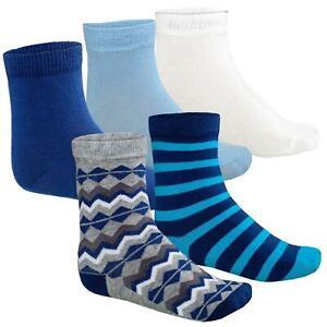 12St Kinder Socken Junden Baby Socks Blau/ Grau/ Mix 17-18