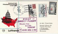 United States 1965 1st Flight Lufthansa LH 421 Airmail Stamps Cover Ref 29425