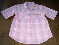 COUNTRY ROAD BOYS SUMMER RED CHECKED WESTERN STYLE SHIRT SZ 9