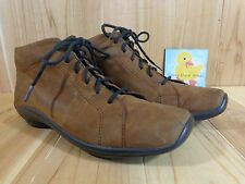 WOLKY Abby Wedge Ankle Boot Womens Size 39 EU / 7.5 US BROWN Leather Cowgate