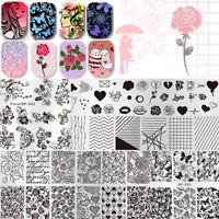 BORN PRETTY Nail Stamping Plates Valentine's Day Rose Nail Art Imgae Templates