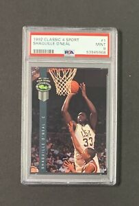 1992 Classic 4 Sport Shaquille O'Neal #1 Rookie RC PSA 9 MINT Low Pop of 306!