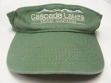 CASCADE LAKES - TEAM CAPTAIN - GREEN - ADJUSTABLE SUN VISOR!