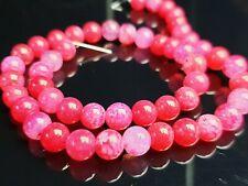 Achat Agate Edelstein Perlen rot rund Kugel Gemstone beads Dragon Veins 8 mm