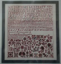 Rabecka Kleinsasser 1909 Reproduction Hutterite Sampler - Samplers and Such