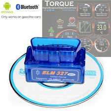 ELM327 v1.5 Bluetooth OBD2 Scanner Adapter OBDII Diagnostic Tool TORQUE Android