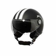 CASQUE JET MOTO SCOOTER QUAD VESPA VINTAGE RETRO NOIR BLANC / XL Réf BS02466