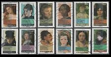 France 4171-4182  Portraits of Women   [12 USED Stamps] Issued 2012
