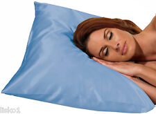 Betty Dain #122B Satin Pillow Case KIng Size  (BLUE)