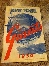 1950 Baseball Scorecard Scorebook Program New York Giants St. Louis Cardinals