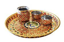 Handmade MeenaKari Work Pooja Thali for Diwali