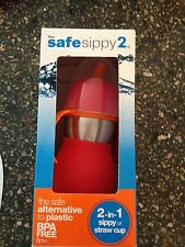 Kid Basix Safe Sippy Cup 2-in-1 red