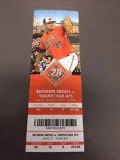 Chance Sisco MLB Debut - Orioles Blue Jays MINT Season Ticket 9/2/17 2017 Stub