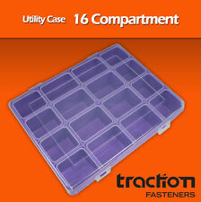 Compartment Utility Box Case, Tackle, Storage, Hobby, Parts, Strong - 5-pack