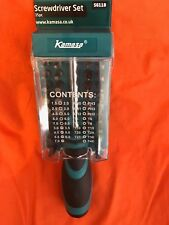 KAMASA SOFT GRIP 35 Pce Screwdriver + Bit Set  Torx Star Phillips Slotted Pozi