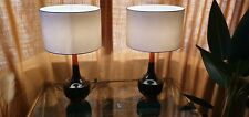 More details for pair of large mid century style table lamps
