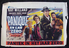 PANIC IN YEAR ZERO movie poster RAY MILLAND Original Belgium poster