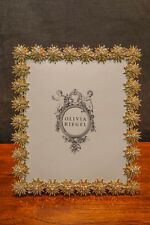 "OLIVIA RIEGEL Crystal ""Electra"" 8x10 Photo Frame New in Box"