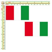 Adesivi auto moto casco bandiera italia sticker italian flag print pvc 2 pz.