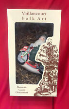 Vaillincourt Folk Art Ornament -FATHER CHRISTMAS ON MOTORCYCLE- NIB -Signed