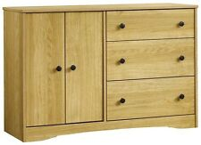 SAUDER Beginnings 3 Drawer Highland Oak Dresser Furniture Storage Clothes New G