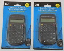 Lot Of 2~Jot Scientific Calculators~10 Digit Display~Flip Cover~56 Functions~New