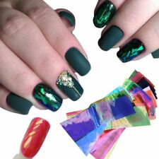 BROKEN GLASS NAIL FOIL 18 Colors NAILS EFFECT Stickers Shattered Angel paper