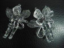 2pc Christmas  Acrylic Angel Christmas Tree Hanging pendant ornaments 8-10cm