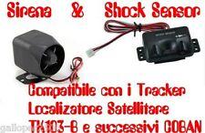 SHOCK SENSOR e SIRENA PER TRACKER TK 103 E ALTRI MODELLI COBAN GPS / GSM / GPRS
