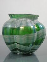 Vase,Böhmen,um 1900,irisierend,Jugendstil,Glas,Austria,Fadenaufschmelzungen