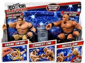WWE Power Slammers - John Cena and The Rock Figures