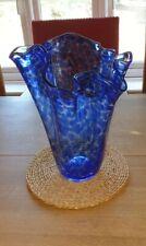 Blue Glass Hankerchief Vase Polish- Large