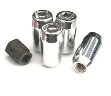 (4) 9/16 DUPLEX ACORN WHEEL LOCKS W/ (1) PUZZLE KEY ANTI THEFT SECURITY LUG NUTS