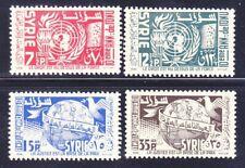 Syria 392-93 & C200-01 MNH OG 1955 UN United Nations 10th Anniversary Full Set
