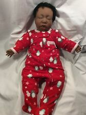 "Lee Middleton Dear One African American 19"" Baby doll1985 Vinyl and Fabric #3103"