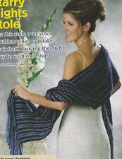 Crochet Pattern ~ Ladies Starry Nights Stole Shawl Wrap ~ Instructions