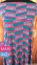LuLaRoe Maxi Skirt & Can Wear as a Dress / Blue Pink White / RARE / XS / BNWT