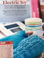 KNITTING PATTERN Teen and Ladies Cable Patterned Mittens Fingerless Gloves Girls