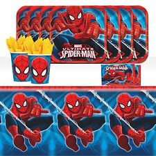 Marvel Spiderman Superhero Childrens Birthday Party Tableware Pack Kit For 16