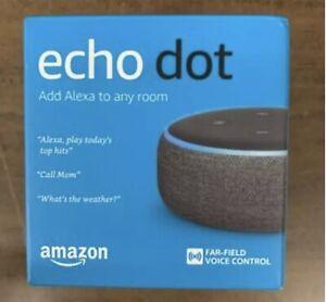 Amazon Echo Dot (3rd Generation) Smart Speaker - Charcoal - New In Box