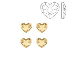 Swarovski 2808 Hotfix Heart Flat Backs Golden Shadow 6mm Pack of 4 (K72/3)