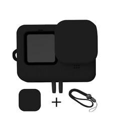 SchutzhülleSilikon Gehäuse mit Objektivdeckel + Lanyard für GoPro Hero 9 Schwarz