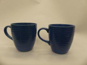 (ref288MG1) Pair of Blue Rayware Mugs
