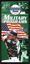 San Diego Padres--Mark Kotsay--2002 Military Ticket Brochure/Schedule