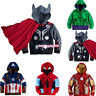 Boys Kids Super Hero Hooded Coat Jacket Hoodies Shirt Sweatshirts Outerwear Tops