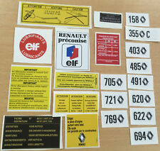 Kit stickers compartiment moteur et carrosserie Renault R5 Alpine & Turbo